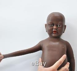 IVITA 18'' African American Silicone Reborn Baby Girl Teahing Toll Kid Toy