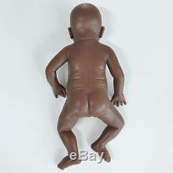 IVITA 20'' Silicone Reborn Baby Dolls African American Tone Girl Cute Doll