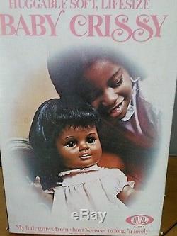 Ideal Vintage 1973 Black/African American BABY CRISSY 23 Vinyl Grow Hair Doll