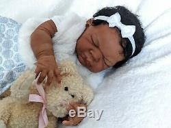 Imani African American/AA/Ethnic/Biracial Reborn baby boy by Adrie Stoete