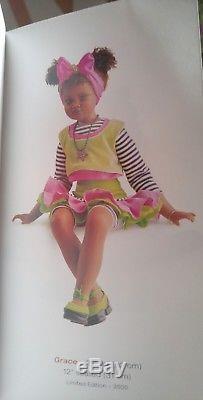Jan Mclean Grace Sitting African American Doll 2001 #123/3500 21