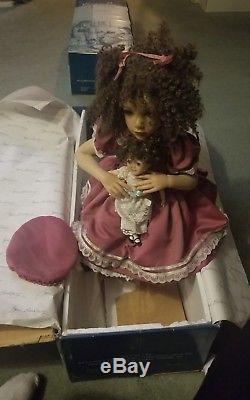 Jane Bradbury African American doll signed Masterpiece artist