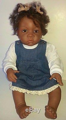 Jasmine 1-1/2 Doll Waltraud Hanl So Truly Real AA African American Ashton Drake