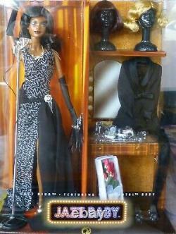 Jazz Diva Barbie AA Rare African American Gold Label L7261 Shipper NRFB