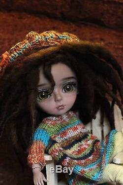 KIMANI Custom BJD African American Hujoo Chocolate Yomi 24cm Doll by Sassy Grace