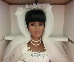 Kingstate Doll Prestige African American Oprah Porcelain Bride #544/3500 & Stand