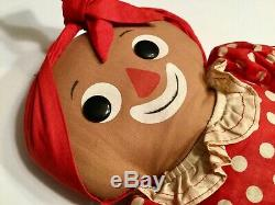Knickerbocker Beloved Belindy Raggedy Ann Mammy Black Rag Doll 16 Vintage