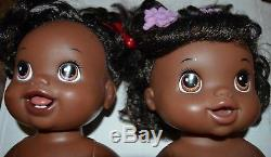 LOT African American Baby Alive Dolls 2010 My Baby Alive Doll, Go Bye Bye Xtras