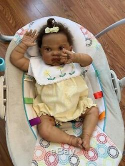 LUCY Authentic REBORN Baby Doll- 22 Precious 3 month old Biracial Girl