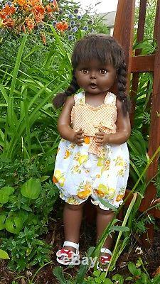 Large Hard-to-find African American 27 Inch Playpal Type Doll By Horsman