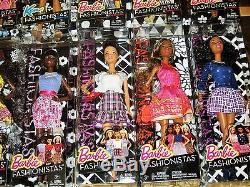Large Lot of Ethnic Barbie Fashionistas Dolls Curvy Petite Tall African American