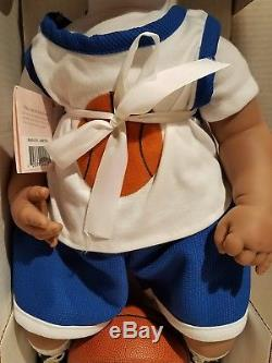 Lee Middleton Vinyl Doll I Wanna Play Basketball African American Doll