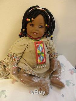 Limited Edition Adora Doll African American Juzi withLocket EUC 20 459 of 500