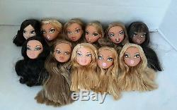 Lot 11 prototype Bratz Doll heads by designer African American blonde MGA 2001