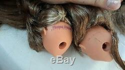 Lot 11 prototype Bratz Doll heads from designer African American blonde MGA 2001
