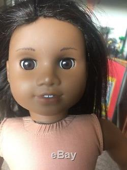 Lot Of 2 American Girl Dolls African American Sonali Face Mold Brown Eyes- TLC