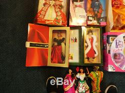 Lot of 13 Collectible Barbie Dolls Most African American and Most in Boxes