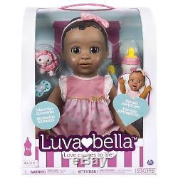Luvabella African American Dark Brown Hair Doll