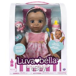 Luvabella African American Interactive Baby Girl Doll FREE SHIP BRAND NEW