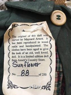 MAYNARD ARNETT Store Doll SUNFLOWER Ltd. Ed. 88/250 African-American RARE H88