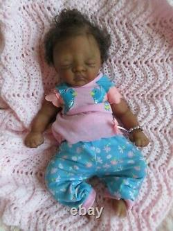 MICRO Preemie Soft SILICONE Baby GIRL Doll KASSIE = Ethnic