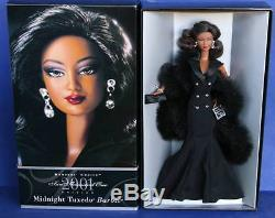 MIDNIGHT TUXEDO BLACK BARBIE doll NRFB 2001 Collector's Club AA African American