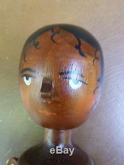 MINT 11 Peg Wood Doll made by Fred Laughon Signed ORIGINAL BOX African American