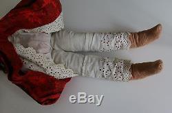 Mary McEwen Wax Doll, 21 IN, 1920's American Wax Doll, African American Doll