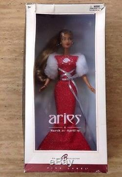 Mattel African American Aries Black Barbie Doll Pink Label Edition 2004 Mattel
