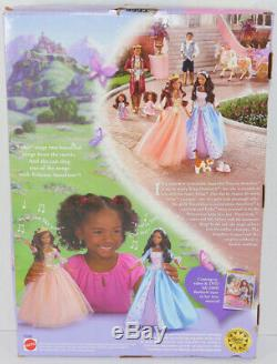 Mattel BARBIE PRINCESS AND THE PAUPER ERIKA African American SINGING DOLL Wolfie