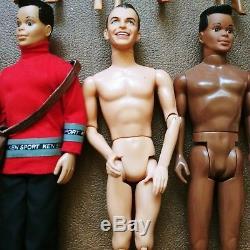 Mattel Barbie & Fashion Lot of 20 African American Asian Hispanic Ethnic Dolls