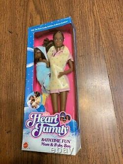 Mattel Heart Family Bathtime Fun Mom & Baby Vintage Rare