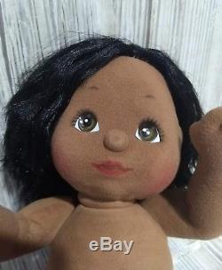 Mattel MY CHILD Doll Vintage 1985 African American Black Hair/Brown Eyes Girl
