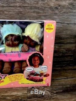 Mattel Magic Nursery Fuss'N Giggle Triplets African-American NIB
