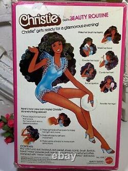 Mattel Mib Vintage Superstar Era Beauty Secrets Christie Aa Barbie Fashion Doll