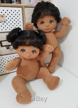 Mattel My Child Dolls 2x African American Black TWINS Tai Boy/Girl