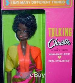 Mattel TALKING CHRISTIE Barbie Doll Mint Box Vintage 1960's 1969 Rare