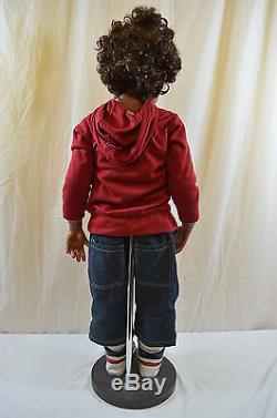 Monika Levenig Masterpiece Boy Doll Charlie African American 38 Tall 1308-3