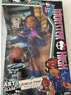 Monster High Art Class Robecca Steam Doll New HTF