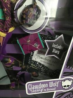 Monster High Clawdeen Wolf School's Out NRFB 2010 First Second Wave