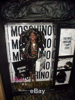 Moschino Barbie AA giftset African-American Black Superstar Collector NRFB