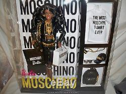 Moschino Barbie Doll African American NRFB SOLD OUT! #DNJ32 Mattel 2015 700 made