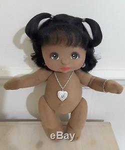 My Child Doll African American Black Girl Locket, Bracelet, Nappy