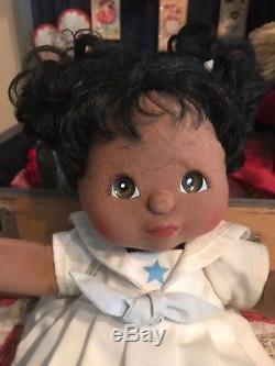 My Child Doll African American Black Original Pigtails Sailor Dress Shoes 1985