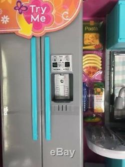 My Life As Kitchen Play Set 64Pc Fridge Dishwasher Oven Lights Sounds 18 Dolls