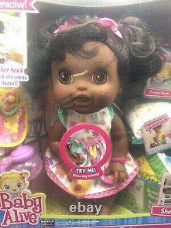 NEW 2012 African American Baby Alive Real Surprises Doll Magnetic Interactive