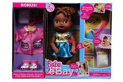 NEW Baby Alive My Baby All Gone African American Doll With Bonus Outfit and Food