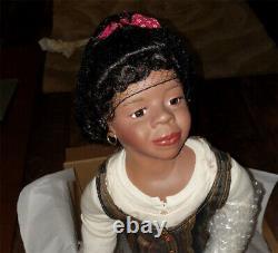 NEW LUCINDA 24 in MARY VAN OSDELL BLACK AFRICAN AMERICAN PORCELAIN DOLL LTD. ED
