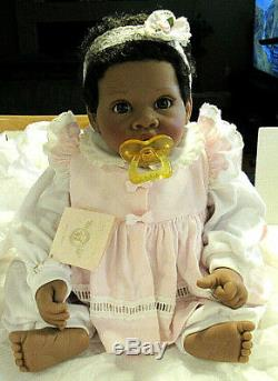 NEW Reva Schick Baby Bows Doll African American COA Lee Middleton Limited Ed