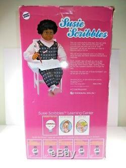 NIB 1989 Vintage Susie Scribbles Doll with tape 26 Wonderama AFRICAN AMERICAN